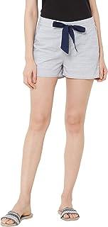 Mystere Paris Classic Textured Lounge Shorts Rayon Loungewear Casualwear Grey F482D