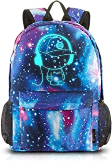 WSJTT Anime Luminous Backpack Shoulder Daypack Boy Rucksack with Polyester Cloth Backpack Reflective Strip Bag Outdoor