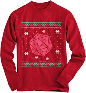 Gnarly Tees Men's Roll for Crit Ugly Christmas Sweater