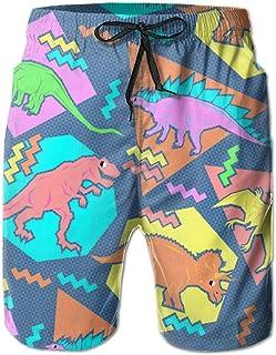 90S Funny Dinosaurs Mens Shorts Swim Trunks Quick Dry Beach Surfing Running Swimming Water Pants
