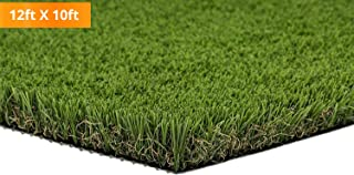 PZG Premium Deluxe Artificial Grass Patch w/ Drainage Holes   4-Tone Synthetic Grass Mat   1.6