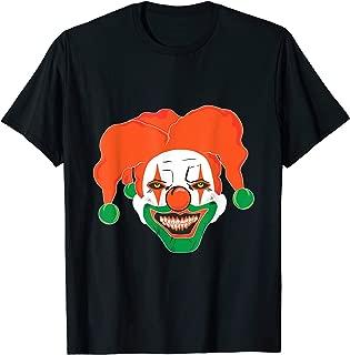 Irish Scary Killer Clown Halloween Costume Evil Horror Movie T-Shirt