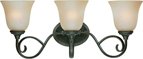 "discount Craftmade 24203-MB lowest Barrett Place Scrollwork Vanity Wall Light, 3-Light, 300 Watts, popular Mocha Bronze (24""W x 10""H) online sale"