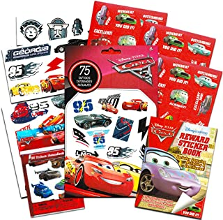 Disney/Pixar Cars Stickers and Tattoos Party Favor Pack (Bundle with 250 Stickers and 75 Temporary Tattoos)