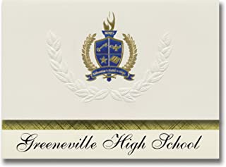 Signature Announcements Greeneville High School (Greeneville, TN) Graduation Announcements, Presidential style, Elite pack...