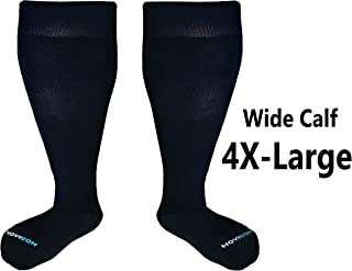 HOYISOX Plus Size Comfortable Compression Socks 20-30 mmHg for Men and Women