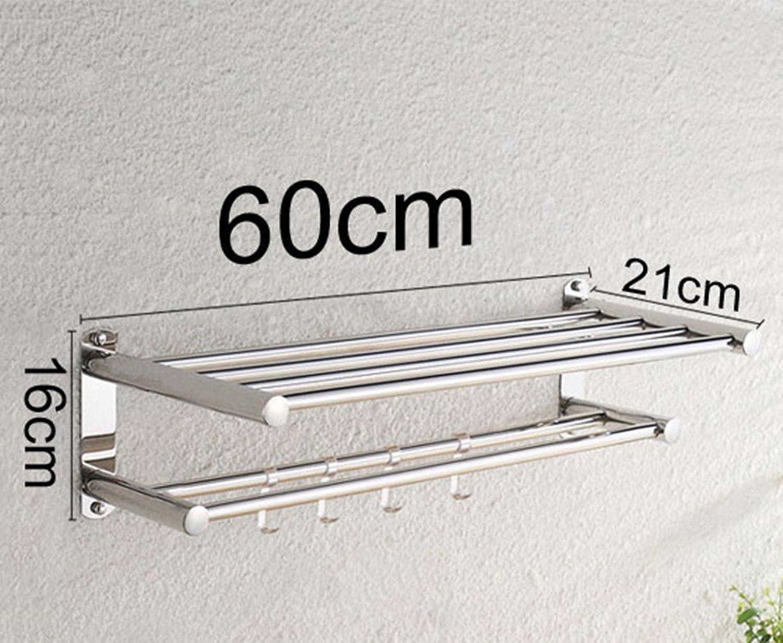 GBHNJ Impermeable Acero Inoxidable Toalla Inodoro Montado En La Parojo 60  16  21