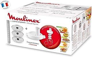Moulinex Découpe-Légumes XF383110 Accessoire Companion Officiel Râpe Tranche Compatible avec Tous les Robots Cuisine Compa...