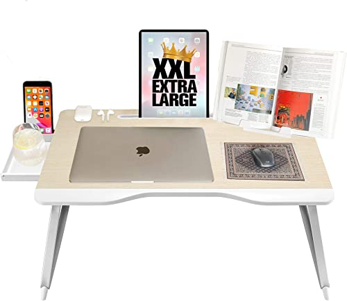 Cooper Mega Table [XXL Folding Laptop Desk] for Bed & Sofa | Couch Table, Bed Desk, Laptop, Writing, Study, Eating St...
