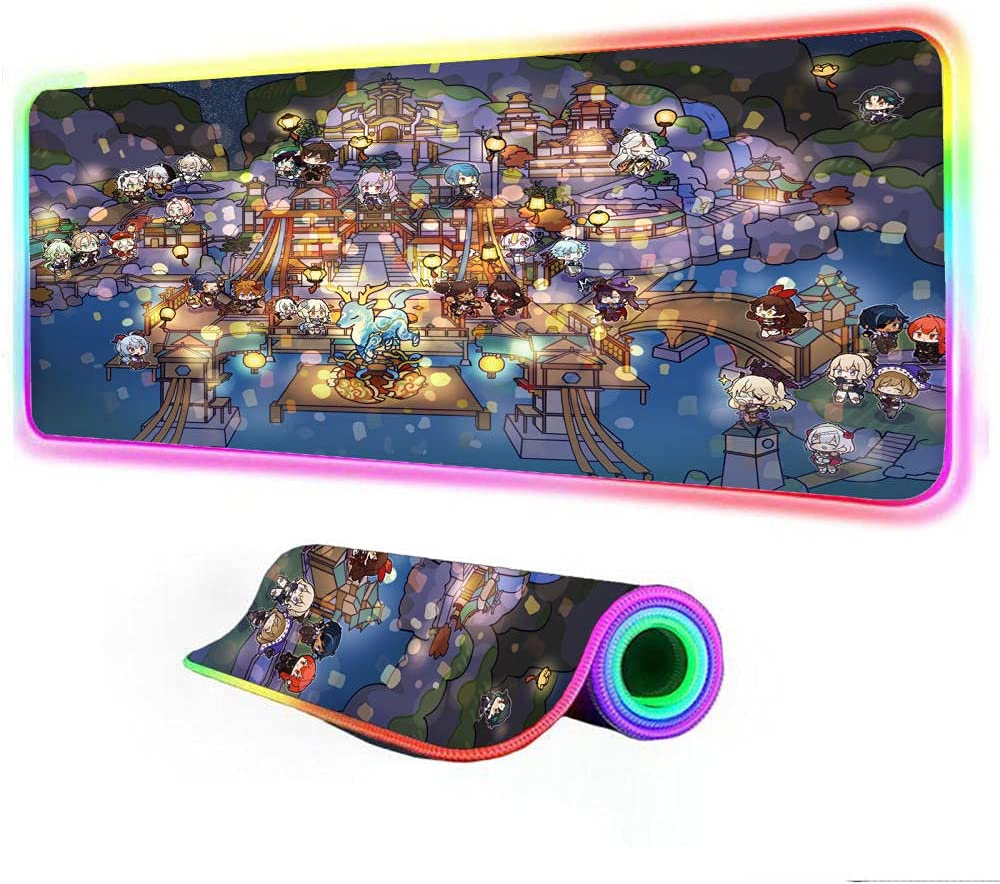 Mouse Pads Genshin mpact Video Games RGB Many popular Discount mail order brands Pad Gaming Large