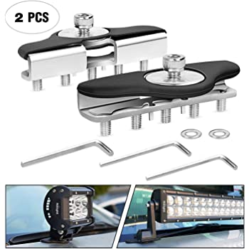Nilight Led Light Bar Mounting Brackets, 2pcs Universal Hood Led Work Light Bar
