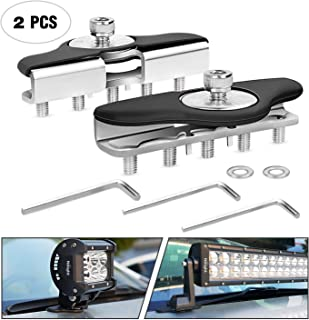 Led Light Bar Mounting Brackets,Nilight 2pcs Universal Hood Led Work Light Bar Mount Bracket Clamp Holder for Jeep Truck Off Road Installed No Need Drilling