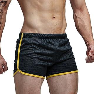 AIMPACT Mens Running Split Shorts Mesh Training Short Shorts Qukick Drying