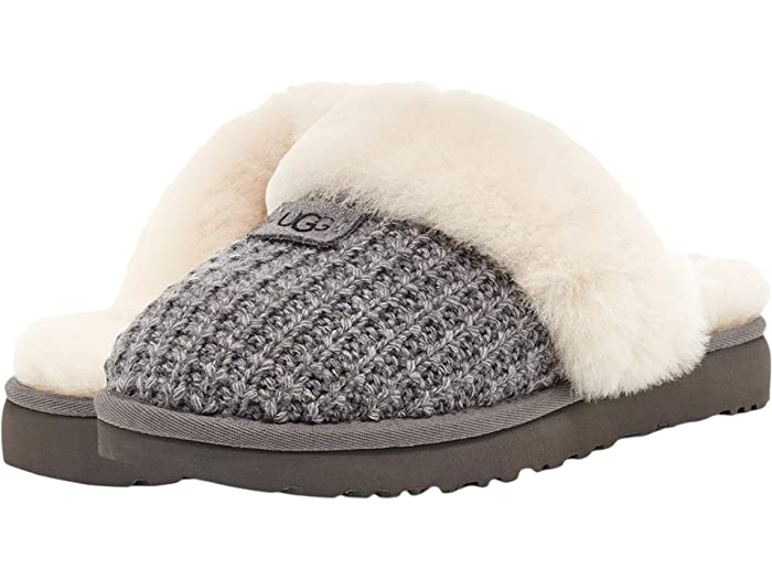UGG Cozy Knit Slipper (New Charcoal) Women's Slippers