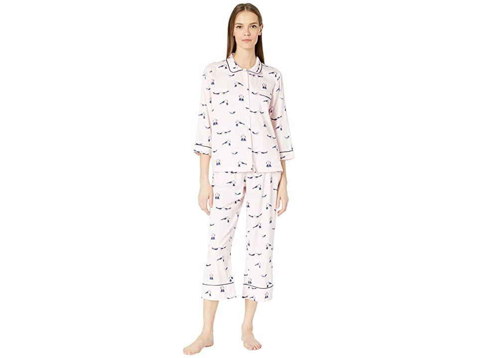Kate Spade New York Sateen Long Pajama Set (Love Birds) Women