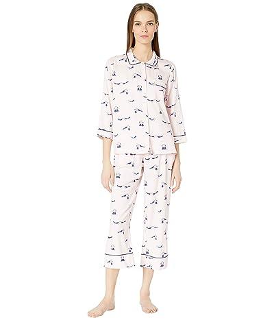 Kate Spade New York Sateen Long Pajama Set (Love Birds) Women