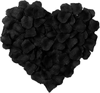 1000 Pcs Silk Artificial Rose Petals Valentine Wedding Partys Decorations, Black