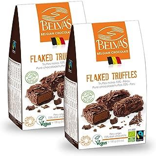 Belvas Belgian Flaked Truffles - Dark Chocolate w/ Cane Sugar 3.5 oz (2 Boxes)