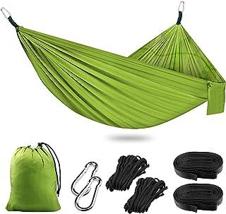 Hamac Moustiquaire pour Camping, Hamac de Voyage Ultra-léger & Respirante, 260x140cm, 300KG Capacité, Nylon à Parachute à ...