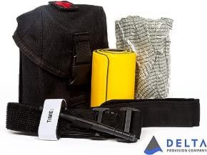 Delta Provision Co. Trauma Tool Kit - Tactical Pouch w/ Combat Tourniquet, Israeli Bandage, Splint Inside - M.O.L.L.E. Attachment System - Survival Medical Kit