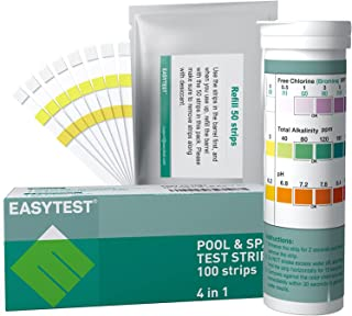 Pool Test Strips 4 in 1 for Pool, SPA and Hot Tub (50+50 Count), EASYTEST Swimming Pool Water Test Kits Accurate and Easy ...