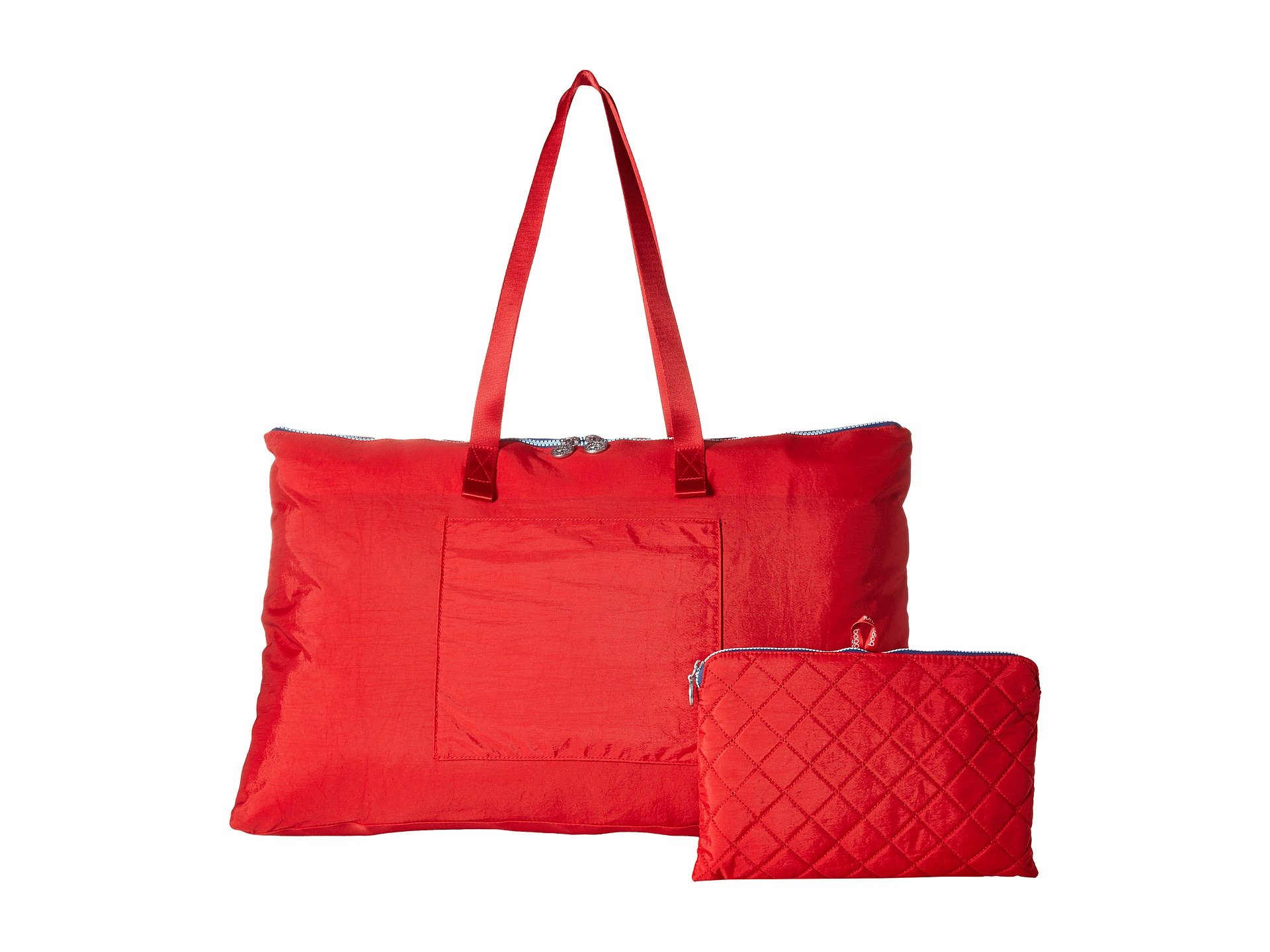 navy Tote Foldable Classic New Baggallini Travel Red wxFf6q6SW