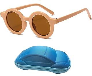 YAMEIZE - Gafas de Sol Para Niños con Protección UV400, Lindas Gafas Redondas Para Niños Pequeños, Niñas de 2 a 7 Años