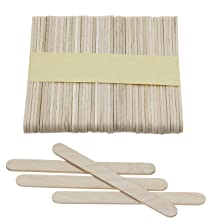Mini Skater 4.5 Inch Natural Wood Ice Cream Sticks Wooden Craft Sticks with Rounded Ends for Hand DIY Craft,Pack of 50