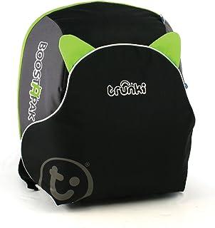 BoostApak - Mochila de viaje, Asiento alzador de viaje portátil y silla coche grupo 2 3 (Verde)