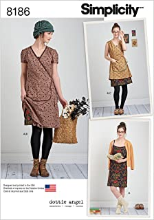 Simplicity 8186 Frock and Slip Dress Sewing Pattern for Women by Dottie Angel in Sizes P5 (12-20)
