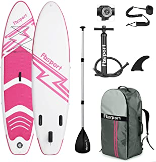 FBSPORT Premium Inflatable Stand Up Paddle Board (6 inches Thick) with SUP Accessories & Carry Bag | Wide Stance, Surf Con...