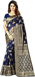 Women's Banarasi Silk Saree Indian Wedding Ethnic Sari & Unstitch Blouse Piece PARI 21