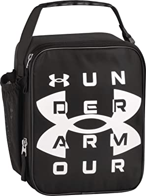Under Armour Scrimmage, Black Insulated Lunch Box, 4 x 10 x 8.2 inch