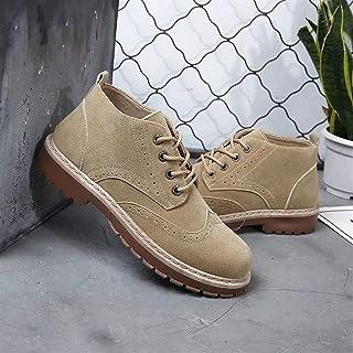 2019 New Imitation Cowhide High-top Shoes Retro Brock Plus Velvet Martin Boots Men's Foreign Trade Large Size (Color : Cashmere Black, Size : 41)