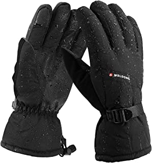 Keegud Ski Gloves Winter Gloves Waterproof Windproof Thermal Gloves for Men and Women Snow Skiing Snowboarding Running Hiking Driving in Cold Weather