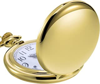 Classic Smooth Vintage Steel Mens Pocket Watch Xmas Gift
