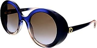 GG 0367S 004 Multicolor Plastic Round Sunglasses Brown...