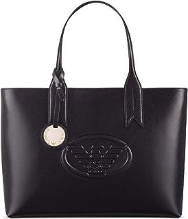 86fc21bc0c Emporio Armani Logo Shopping Mujer Handbag Negro