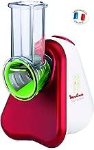 Moulinex Fresh Express DJ753500 Rallador Eléctrico Con 3 Conos, 200 W, Blanco/Rojo