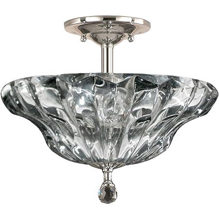 Springdale Gh11235pc Meridith Crystal Semi Flush Mount Polished Chrome Amazon Com