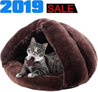 iphonepassteCK Self Warming Plush Pet Bed Cat Cave Pet Tent Cave Bed Cozy Cat Sleeping Bag Snooze Mat for Winter Pets Cats Dogs Puppies and Kittens, Durable, Comfortable, Washable