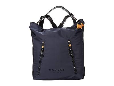 Radley London Crofters Way Large Zip Top Hobo (Ink) Hobo Handbags