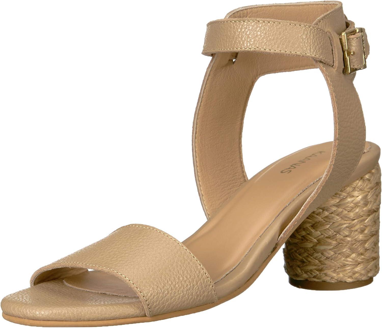 KAANAS kvinnor Tenedos Low Heel Ankle Strap Open Toe Sandal skor Heeled Sandal