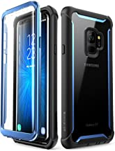 i-Blason Samsung Galaxy S9 case, [Ares] Full-body Rugged Clear Bumper Case with Built-in Screen Protector for Samsung Galaxy S9 2018 Release (Black/Blue)
