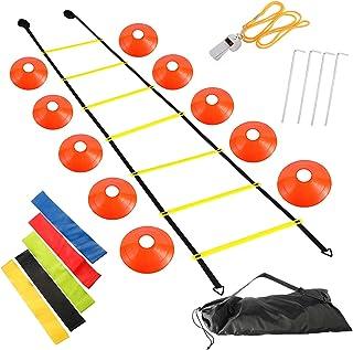 Yaesport Agility Ladder Speed Training Equipment Set - Improves Coordination, Speed, Power and Strength, Includes Adjustab...