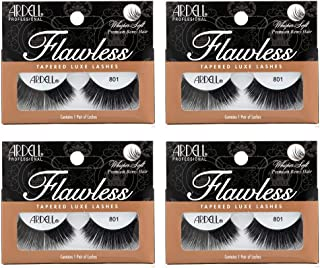 Ardell False Eye Lashes Flawless 801 Black (4 Pack)