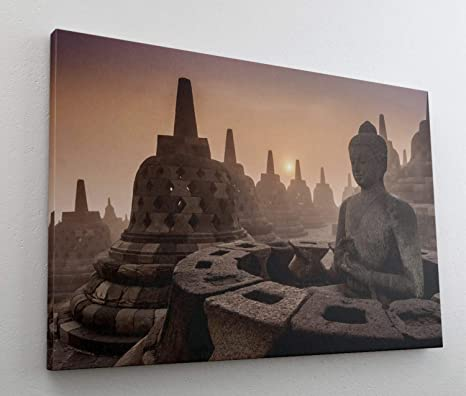 Tempel Buddha 100 Bild Bilder auf Leinwand Wandbild Poster