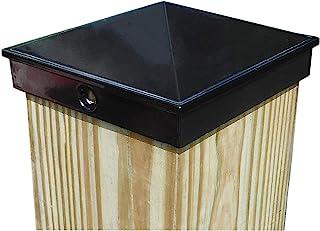 "Best 4x4 Fence Post Cap (3 1/2"") Single Pack Black Powder Coated Aluminum - Mailbox, Lamp Post, Deck, Dock, Piling Caps Review"