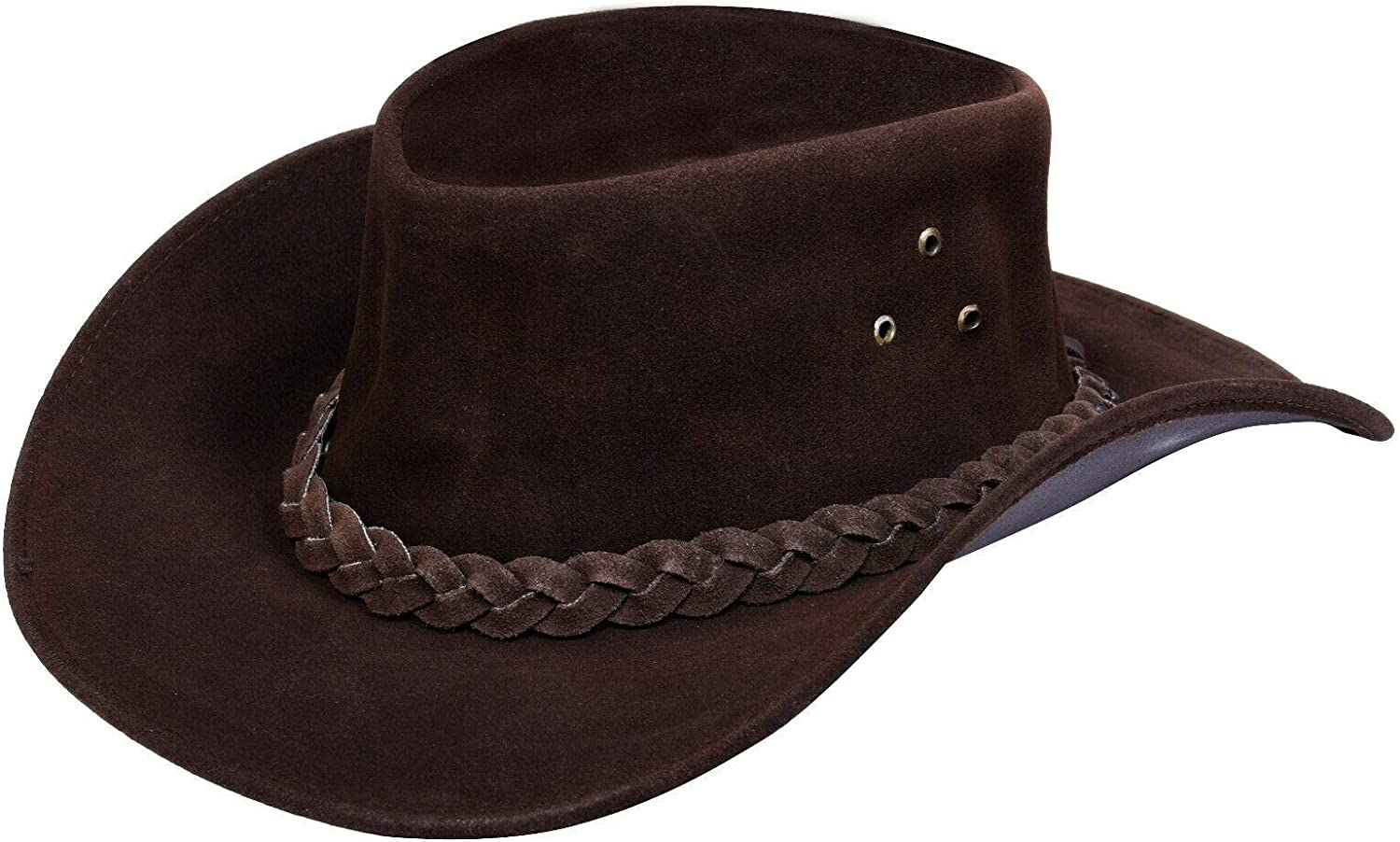 Australian Bargain Max 84% OFF Unisex Western Style Cowboy Outback Suede Leathe Real