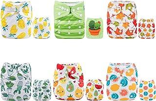 Alva Baby - Pañales de tela reutilizables (6 unidades) Boy color 6DM31 Talla:All in one